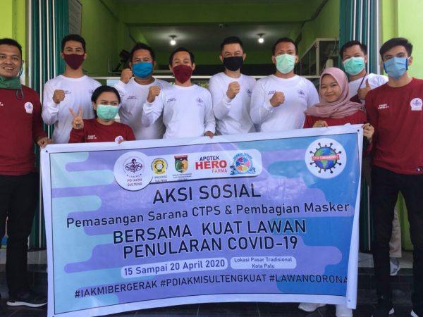 IAKMI Sulteng Bagikan 100 Lusin Masker dan Adakan Alat Cuci Tangan di Palu